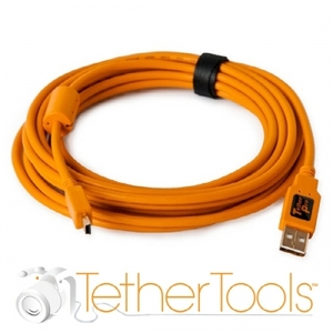 테더툴즈 카메라케이블 TetherPro USB 2.0 A Male to Mini-B 5 Pin-15Ft (4.6m) Gold Plated